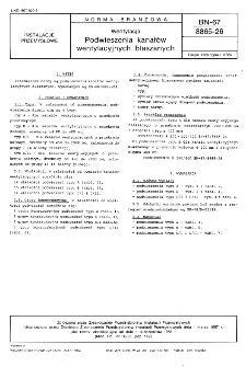 Wentylacja - Podwieszenia kanałów wentylacyjnych blaszanych BN-67/8865-26