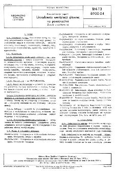 Przewietrzanie kopalń - Urządzenia wentylacji głównej na powierzchni - Zasady projektowania BN-73/8900-04.