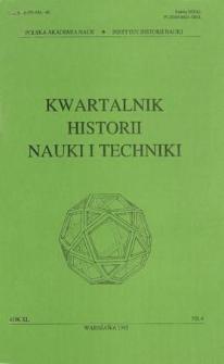 Kwartalnik Historii Nauki i Techniki R. 40 nr 4/1995