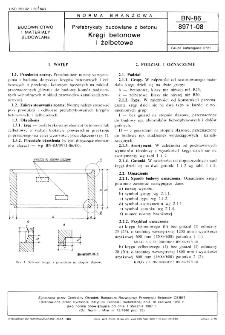 Prefabrykaty budowlane z betonu - Kręgi betonowe i żelbetowe BN-86/8971-08