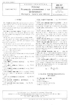 Wodociągi - Przewody ciśnieniowe z rur żelbetowych - Wymagania i badania przy odbiorze BN-87/8972-06