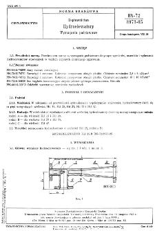 Ciepłownictwo - Hydroelewatory - Wymagania podstawowe BN-72/8973-05