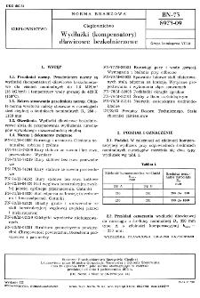 Ciepłownictwo - Wydłużki (kompensatory) dławicowe bezkołnierzowe BN-73/8973-09