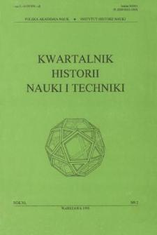 Kwartalnik Historii Nauki i Techniki R. 40 nr 2/1995
