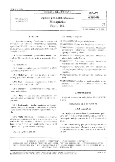 Żywice polimetakrylanowe - Metapleks - Płyty NL BN-73/6368-04