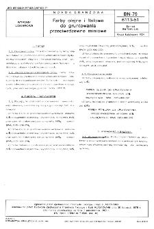 Farby olejne i ftalowe do gruntowania przeciwrdzewne miniowe BN-79/6113-51