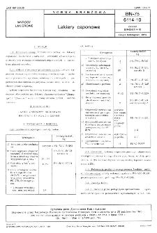Lakiery caponowe BN-75/6114-10
