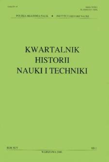Kwartalnik Historii Nauki i Techniki R. 45 nr 1/2000