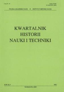 Kwartalnik Historii Nauki i Techniki R. 45 nr 2/2000