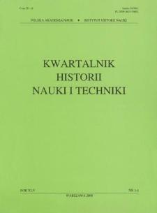 Kwartalnik Historii Nauki i Techniki R. 45 nr 3-4/2000