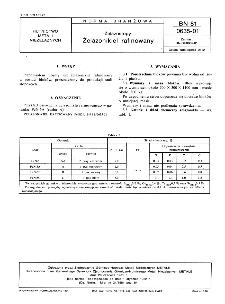 Żelazostopy - Żelazonikiel rafinowany BN-81/0635-01