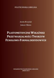 Plastometryczne wskaźniki przetwarzalności tworzyw fenolowo-formaldehydowych