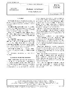 Badanie szczelności - Próby hydrauliczne BN-76/1055-01