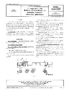 Nieniszczące metody badań - Badania ultradźwiękowe osi zestawów kołowych lokomotyw spalinowych BN-84/3518-02/13