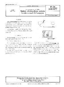 Nieniszczące metody badań - Badania ultradźwiękowe wieńców bezobręczowych kół wagonów BN-84/3518-02/15
