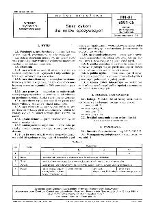 Susz cykorii dla celów spożywczych BN-84/8091-05