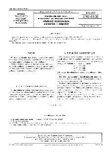 Koordynacja wymiarowa mieszkalnych pomieszczeń okrętowych - Wielkości koordynujące elementów i zespołów BN-80/3763-09.02