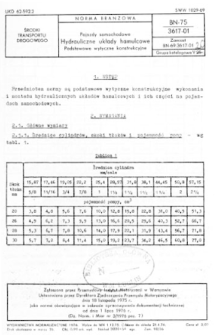 Pojazdy samochodowe - Hydrauliczne układy hamulcowe - Podstawowe wytyczne konstrukcyjne BN-75/3617-01