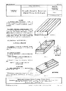 Skrzynki i komplety skrzynkowe zbijane I formy konstrukcyjnej BN-75/7161-56