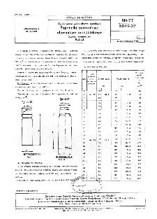 Opakowania jednostkowe metalowe - Pojemniki aerozolowe aluminiowe monoblokowe - Szereg wymiarowy - Podział BN-77/5049-07