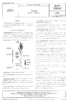 Trzcina - Nazwy i określenia BN-79/6700-01
