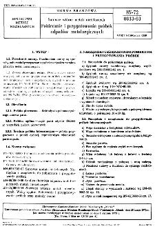 Surowce wtórne metali nieżelaznych - Pobieranie i przygotowanie próbek odpadów metalurgicznych BN-72/0813-03