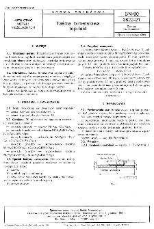 Taśma bimetalowa top-laid BN-90/0822-21