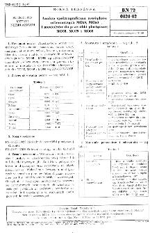 Analiza spektrograficzna mosiądzów odlewniczych MO59, MO60 i mosiądzów do przeróbki plastycznej MO58, MO59 i MO60 BN-72/0828-02