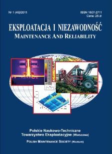 Eksploatacja i Niezawodność = Maintenance and Reliability Nr 1 (49)2011