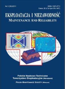 Eksploatacja i Niezawodność = Maintenance and Reliability Nr 2 (50)2011
