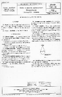 Silniki o zapłonie samoczynnym - Rozpylacze - Wymagania i badania BN-84/1301-15