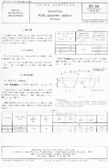 Samochody - Koła zębate - Wymiary BN-84/1372-07