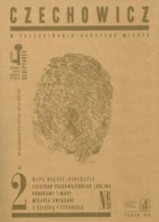 Scriptores : pamięci, miejsce, obecność : laboratorium pamięci, małe ojczyzny, spotkania kultur nr 31(2007) : CZECHOWICZ - w poszukiwaniu ukrytego miasta. Cz. 2