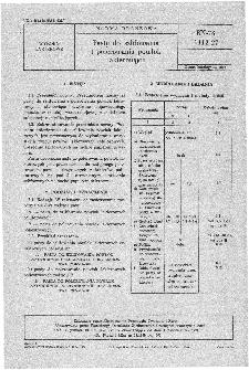 Pasty do szlifowania i polerowania powlok lakierowych BN-78/6112-27