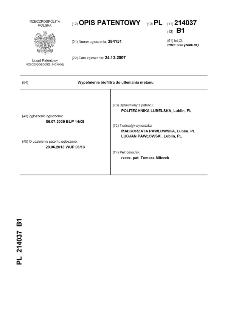 Wypełnienie biofiltra do utleniania metanu : opis patentowy nr 214037