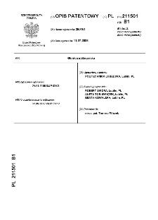 Głowica wytłaczarska : opis patentowy nr 211501