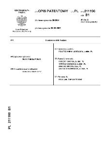 Urządzenie stabilizujące : opis patentowy nr 211190