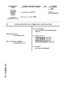 Sposób wytwarzania obszarów izolacji pionowej w układach scalonych : opis patentowy nr 212829