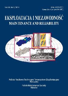 Eksploatacja i Niezawodność = Maintenance and Reliability Vol. 16 No. 1, 2014