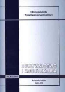 Budownictwo i Architektura Vol. 6(1)2010