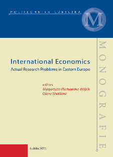 International Economics : actual research problems in Eastern Europe