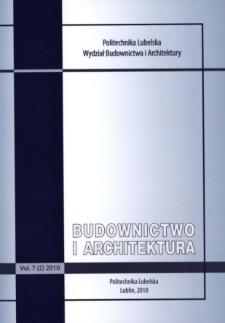 Budownictwo i Architektura Vol. 7(2)2010