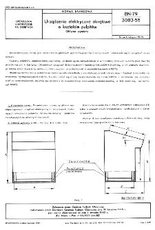 Urządzenia elektryczne okrętowe o kształcie pulpitów - Główne wymiary BN-79/3083-55