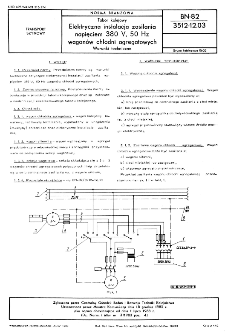 Tabor kolejowy - Elektryczna instalacja zasilania napięciem 380 V, 50 Hz - Warunki techniczne BN-82/3512-12.03