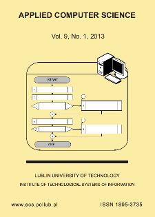Applied Computer Science Vol. 9, No 1, 2013