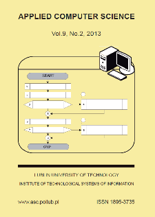 Applied Computer Science Vol. 9, No 2, 2013