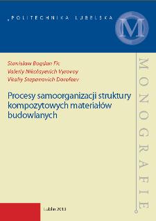 Procesy samoorganizacji struktury kompozytowych materiałów budowlanych