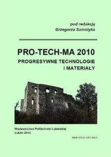 PRO-TECH-MA 2010 : progresywne technologie i materiały