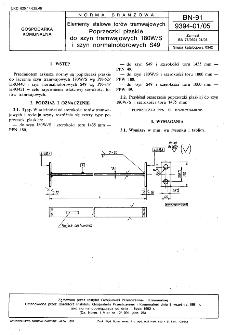 Elementy stalowe torów tramwajowych - Poprzeczki płaskie do szyn tramwajowych 180W/S i szyn normalnotorowych S49 BN-91/9394-01/05