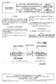 Elementy stalowe torów tramwajowych - Poprzeczki okrągłe do szyn tramwajowych 180W/S i szyn normalnotorowych S49 BN-91/9394-01/06